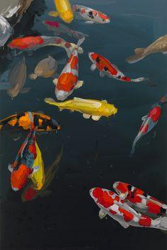 Jan de Vliegher Academic Art, Insect Art, Dutch Artists, Paintings I Love, Naive Art, Fish Art, Landscape Art, Garden Art, Painting & Drawing