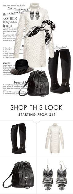 """""""Black & White"""" by ragnh-mjos ❤ liked on Polyvore featuring gx by Gwen Stefani, Alexander Wang, H&M, Arizona, Moschino, contest, outfit and blackandwhite"""
