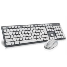 NEW Delux U3-white 2.4GHz Wireless keyboard and mouse combo 1000DPI slim laser keycaps for home office user[without battery]