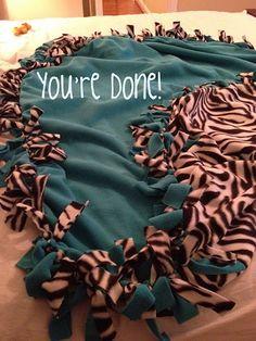 -DIY Tie Blanket