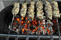 Yoghurt Marinated Lamb Kebabs with Cumin & Garlic Marinated Lamb, Lamb Kebabs, Sushi, Garlic, Chicken, Meat, Cooking, Ethnic Recipes, Food
