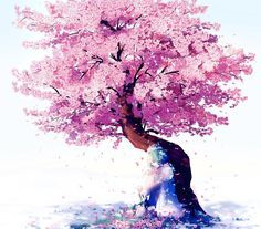 Image Result For Girl Sitting Under Cherry Tree In Pink Kimono