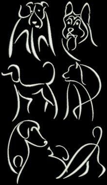 Advanced Embroidery Designs - Cat Silhouette Set.