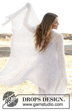 Ponchos & Shawls - Free knitting patterns and crochet patterns by DROPS Design Shawl Patterns, Knitting Patterns Free, Free Knitting, Free Pattern, Crochet Patterns, Pattern Print, Poncho Shawl, Cowl Scarf, Capelet