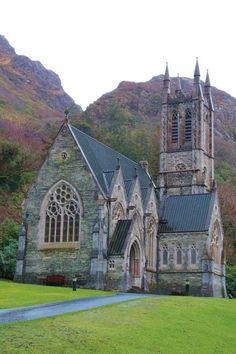 Kylemore Abbey Church, Connemara, Ireland.