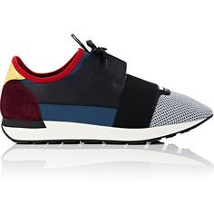 "Balenciaga ""Race Runner"" Sneakers ($645) ❤ liked on Polyvore featuring men's fashion, men's shoes, men's sneakers, grey, mens lace up shoes, balenciaga mens sneakers and balenciaga mens shoes"