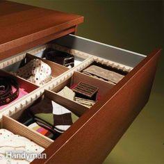 Adjustable Organizer|DIY Drawer Dividers,see more at: http://diyready.com/diy-drawer-dividers/