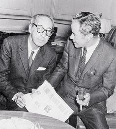 Juan Carlos Onetti y Juan Rulfo en 1969.
