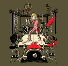 Princess Peach/Donkey Kong/Kill Bill Mashup