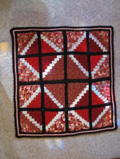 Some of my prettier lap afghans like this one, were made when I was trying to use-up my odds-&-ends skeins and yarns.