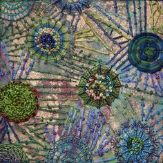 Embroidery on stencil design - Anne Lange