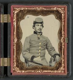 John W. Anthony of Company B, 11th Virginia Infantry Regiment, Southern Guards, Wounded at Seven Pines --  Photograph shows identified soldier, John W. Anthony, who enlisted in Company I, 2nd Virginia Cavalry Regiment, and then in Company B, 11th Virginia Infantry Regiment, as a private and was later promoted to sergeant.    A letter from John W. Anthony to Ma, Pa & Callie, June 2, 1862, is also at the Library of Congress, but is not available online