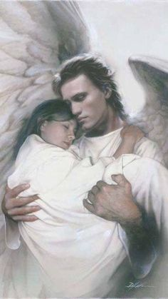 We have all been given a Guardian Angel at the Moment of our Birth that stays besides us until We meet them in Heaven! Thank You JESUS for My Guardian Angel 👼🏼 Angels Among Us, Angels And Demons, Male Angels, Angels And Fairies, Guardian Angels, Urbane Kunst, I Believe In Angels, Ange Demon, Warrior Angel