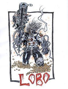 Lobo Comic Art wow!