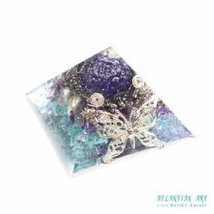 パープルローズガーデンオルゴナイトピラミッド♪|ATLANTIAN ART~天然石アクセサリー・点画・オルゴナイト