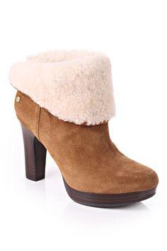 ugg australia dandylion heel boot with fur trim chestnut  http://www.blueberries