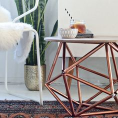 DIY : Une table basse géométrique / coffee table in cooper
