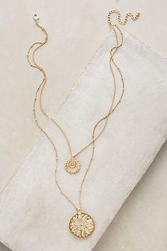 KRIS BOUGHT - Layered Emblem Necklace - anthropologie.com