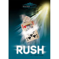 Rush by Chris Webb - Feel the RUSH when you see this fast and visual change. Not only a change but a switch, vanish and back design change. One clever gimmick will add all of this to any deck of cards. Simple, Visual and Direct. As you can see, Rush allows you to do incredibly visual card changes, switches or vanishes with minimal sleight of hand. The cleverly designed and hand get it here: http://www.wizardhq.com/servlet/the-13881/rush-by-chris-webb/Detail?source=pintrest