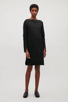 COS - Jersey Dress with Facing  in Black