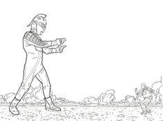 Ultra Man Vs Shaolin Cowboy By Geoff Darrow Insert Childlike Screen Of Joy