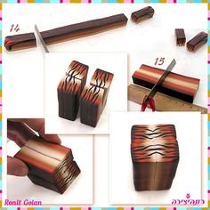 tiger cane #polymer #clay #tutorial