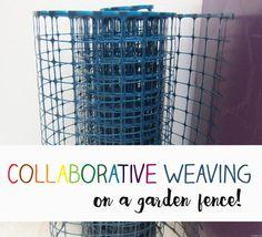 weaving on a garden fence