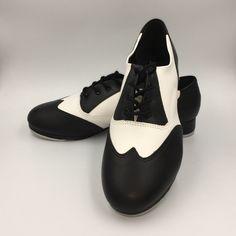 huge discount 14fdc bf424 So Danca Tap Shoes Oxford Noir   Blanc (TA 20) - Largeur M