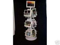 It won't be this low price forever!!! Greeting Card Display Rack 12 pocket 5x7 H&V Spinner Counter Rotating Wholesale