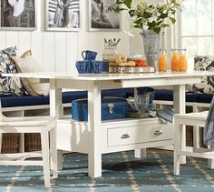 Think Casual For Small Dining Spaces A Bench On The Side