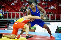 Freestyle Wrestling. Budapest 2013. Lucha libre olímpica. ESP-CUB. Silver Medal.