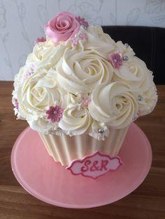 wedding giant cupcake