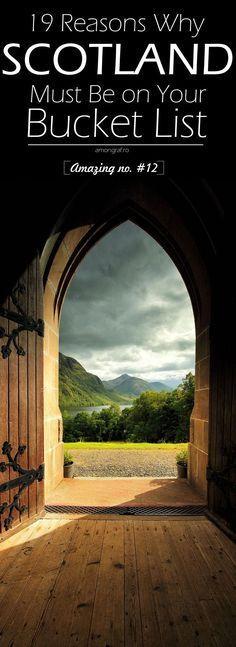 19 Reasons Why Scotland Must Be on Your Bucket List. Amazing no. #12 #Scotland (scheduled via http://www.tailwindapp.com?utm_source=pinterest&utm_medium=twpin&utm_content=post139309173&utm_campaign=scheduler_attribution)