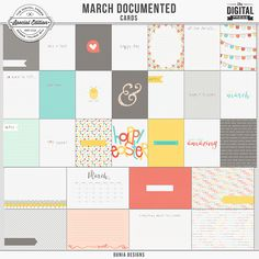 March Documented (Cards)