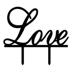 Wedding Cake Topper /Romantic Cake Decoration (Love /Cursive Writing)