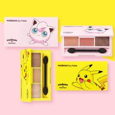 TONYMOLY Pokemon Eye Shadow Palette 3Color 2Type Limited Edition Korean Cosmetic #TONYMOLY
