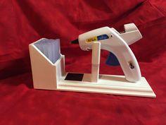 Large Glue Gun Holder , Glue Gun Stand , Scrapbooking , Crafts Organization, Glue Gun Holder , by BellaDecoCreations on Etsy https://www.etsy.com/listing/228169014/large-glue-gun-holder-glue-gun-stand