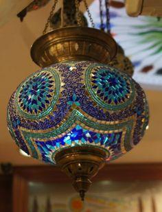 Moroccan lamp. Beautiful colors!