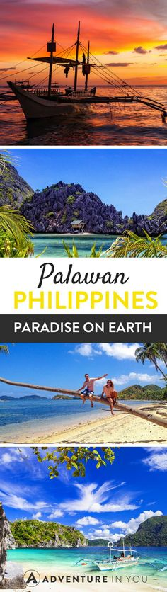 There is something magical about Palawan that makes it paradise on earth. Is it the enchanting limestone cliffs, the crystal clear water or the warmth of. Philippines Vacation, Philippines Beaches, Philippines Destinations, Brunei, Laos, Travel Destinations, Travel Tips, Travel Guides, Vietnam