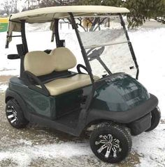 Club Car Precedent Electric Golf Cart w/ Custom Rims & Tires Ogio Golf Bags, Custom Rims And Tires, Golf Cart Tires, Cheap Golf Clubs, Electric Golf Cart, Electric Cars, Golf Gps Watch, Golf Apps, Golf Cart Accessories