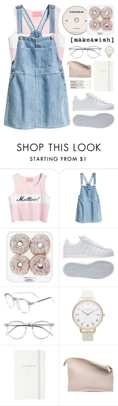 """[make a wish]"" by alexandra-provenzano ❤ liked on Polyvore featuring Chicnova Fashion, KEEP ME, H&M, adidas, Wildfox, Olivia Burton, Kate Spade and Sabrina Zeng"