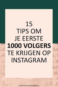 Wil je je Instagram account laten groeien? In dit artikel deel ik mijn beste tips om snel te groeien op Instagram en binnen no time de 1000 volgers te halen.