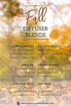 New Snoring Remedies Young Living Fall Diffuser Blends