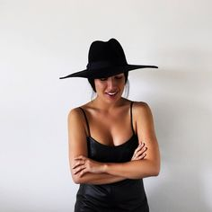 Our girl Tarra Chong in Lack Of Colour hat and One Teaspoon leather dress. #maidensydney