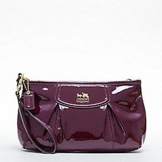 Coach Madison Patent Large Wristlet in Plum $118.00  (with 25% Coupon it will only be $88.50 !! :)