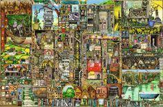 5000 CIUDAD EXCENTRICA Modelo  17430rv Condición  Nuevo  Puzzle ravensburger 5000 Piezas. Ref 17430