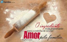 O ingrediente mais importante para sua cozinha: AMOR