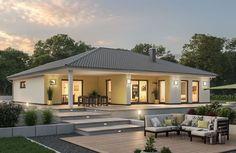 Modern Bungalow Exterior, Modern Bungalow House, Bungalow House Plans, Dream House Exterior, Village House Design, Kerala House Design, Model House Plan, My House Plans, Bungalow Haus Design
