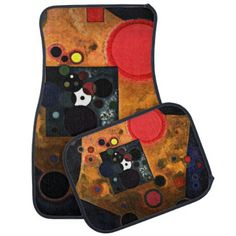 Kandinsky - Accent on Rose Car Floor Mat - artists unique special customize presents