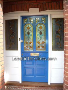 decorative front doors | Decorative Overlay Stained Glass Door supplier to Bedford area
